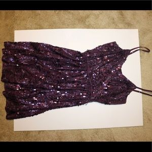 Sequin mini dress from Express